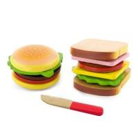Játék szendvics és hamburger