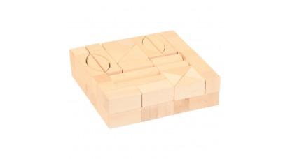 Építőkocka 3 cm-es natúr